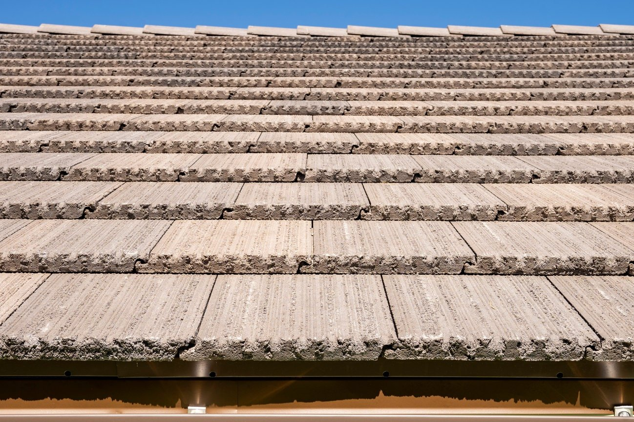 Close Up Of Finished Flat Tile Residential Roofing by Heritage Roofing