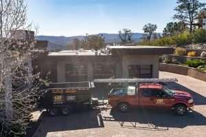 Heritage Roofing Contractor Truck and Trailer in Prescott, AZ