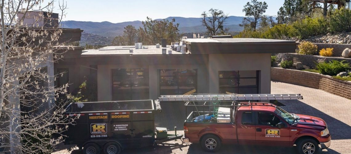 Heritage Roofing Contractor Truck and Trailer in Prescott, AZ