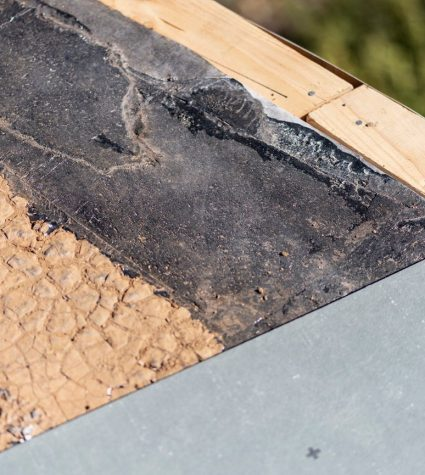 Roof That's Cracked and Needed Roof Repair - Fixed by Heritage Roofing In Prescott, AZ