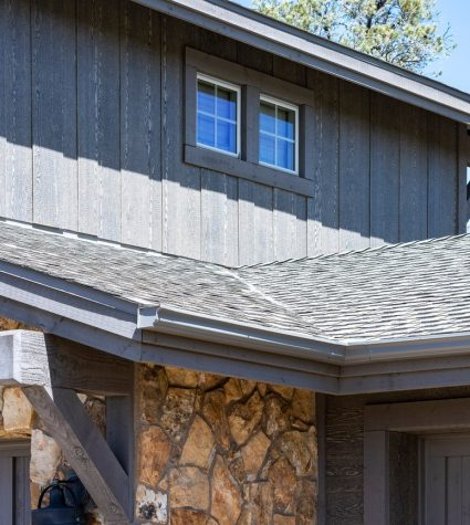 Closeup of Ultra GAF Shingles Roof In the Background by Heritage Roofing in Prescott, AZ