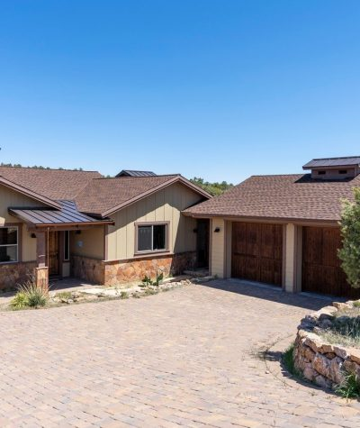 Ultra GAF Shingles With Standing Seam Metal Roof and a Chimney (Front of the House) by Heritage Roofing in Prescott, AZ