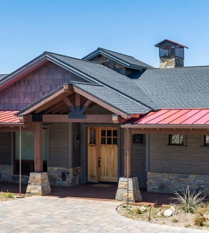 GAF Ultra Shingles with Standing Seam Metal Roof (Front of the House) by Heritage Roofing in Prescott, AZ