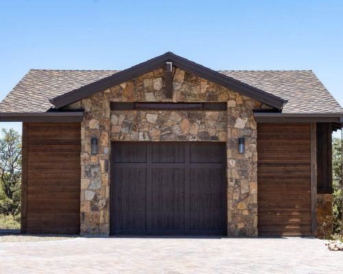 Garage with CertainTeed Presidential Shake Roofing Shingles Roofed by Heritage Roofing in Prescott, AZ
